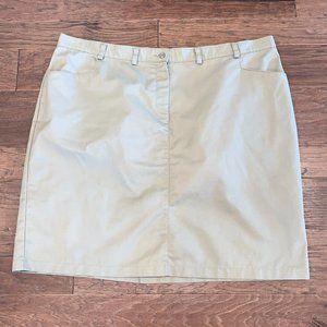 Khaki Pencil Skirt 26W